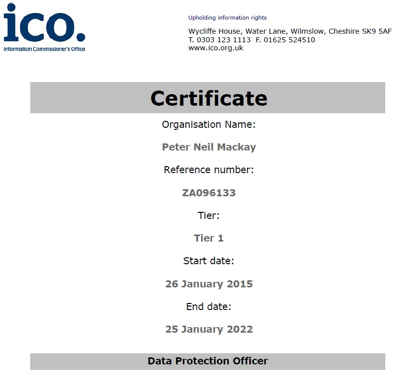 Registered with the Information Commissioner's Office